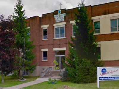 Windows Damaged at Holy Name Elementary School